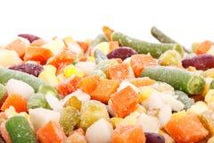 新鲜的冻结的蔬菜 免版税库存图片