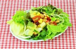新鲜的凉拌生菜蔬菜 免版税库存照片