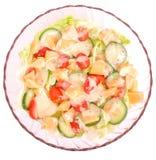新鲜的凉拌生菜 免版税库存照片