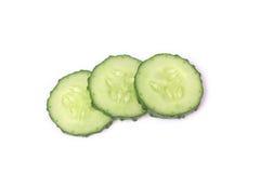 新鲜的切片黄瓜 图库摄影