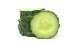新鲜的切片黄瓜 免版税库存照片