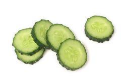 新鲜的切片黄瓜 免版税图库摄影