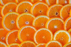 新鲜的切的桔子无缝的抽象背景  免版税图库摄影