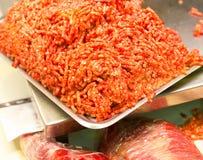 新鲜的加料碎肉 图库摄影