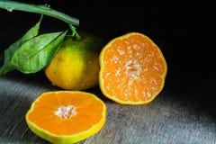 新鲜的半桔子 免版税图库摄影