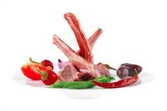 新鲜的原始的肋骨小牛肉 免版税图库摄影