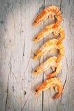 新鲜的原始的虾 免版税库存照片