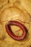 新鲜的原始的香肠 库存照片