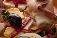 新鲜的可口三明治 免版税库存照片