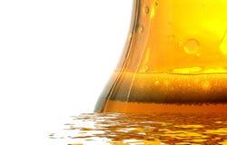 新鲜的啤酒瓶 免版税库存照片