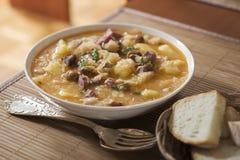 圆白菜炖煮的食物 库存图片
