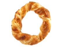 新鲜的圆的椒盐脆饼 库存照片