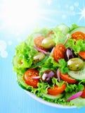 新鲜的夏天沙拉 免版税库存照片