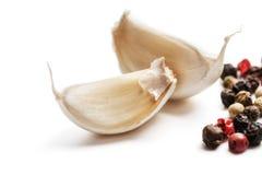 新鲜的大蒜用胡椒 库存图片