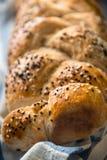 新鲜的家制面包用芝麻 库存照片