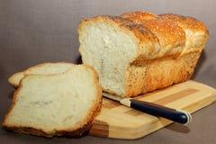 新鲜的家制面包 库存照片