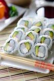 新鲜的寿司加利福尼亚劳斯 库存照片