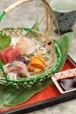新鲜的寿司盛肉盘 库存照片