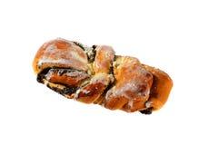 新鲜的小圆面包的图片与罂粟种子和结冰的 免版税库存照片