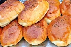 新鲜的小圆面包 免版税库存图片