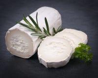 新鲜的山羊乳干酪 免版税库存图片