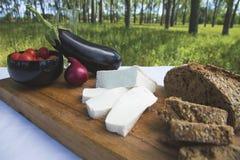 新鲜的山羊乳干酪23 免版税库存照片