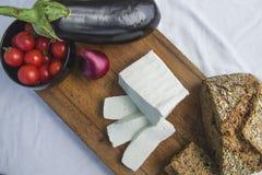 新鲜的山羊乳干酪24 免版税库存照片