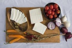 新鲜的山羊乳干酪25 免版税库存图片