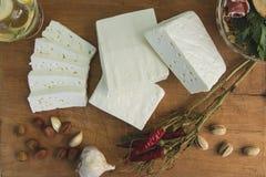 新鲜的山羊乳干酪27 免版税库存照片