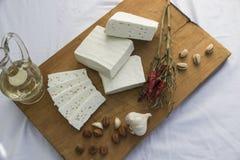 新鲜的山羊乳干酪28 库存照片