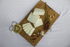新鲜的山羊乳干酪30 免版税库存照片