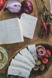 新鲜的山羊乳干酪31 免版税库存照片
