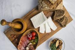 新鲜的山羊乳干酪3 免版税库存图片