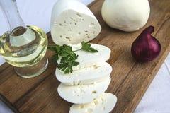 新鲜的山羊乳干酪6 免版税图库摄影