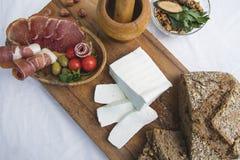 新鲜的山羊乳干酪5 免版税库存图片