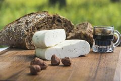 新鲜的山羊乳干酪10 免版税库存图片