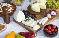 新鲜的山羊乳干酪13 免版税库存照片