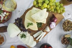 新鲜的山羊乳干酪14 免版税图库摄影