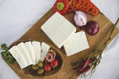 新鲜的山羊乳干酪17 图库摄影