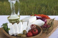 新鲜的山羊乳干酪19 免版税库存照片