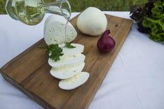 新鲜的山羊乳干酪21 免版税库存图片