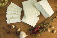 新鲜的山羊乳干酪18 免版税库存图片