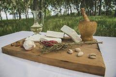 新鲜的山羊乳干酪26 库存图片