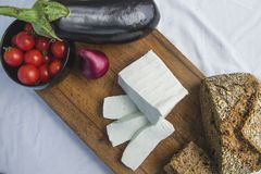 新鲜的山羊乳干酪24 免版税图库摄影