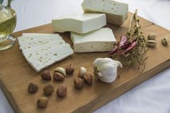 新鲜的山羊乳干酪29 免版税图库摄影