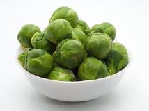 新鲜的布鲁塞尔圆白菜 免版税库存图片
