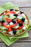 新鲜的希腊沙拉 免版税图库摄影