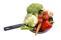 新鲜的平底锅蔬菜 免版税库存照片