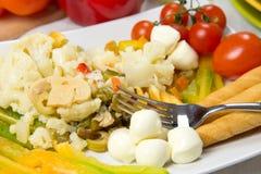 新鲜的开胃菜圆白菜沙拉 库存照片