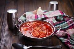 新鲜的开胃蔬菜汤 库存图片